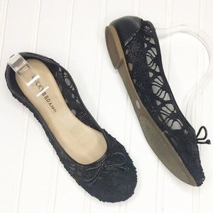 Lucky Brand | Lace & Leather Flats